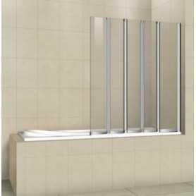 Шторка на ванну Cezares Pratico V5-120/140-C-Cr стекло