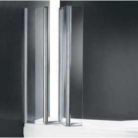 Шторка на ванну Cezares Trio 90 см., стекло прозрачное