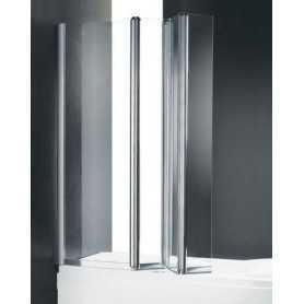 Шторка на ванну Cezares Trio 120 см., стекло прозрачное