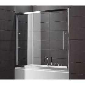 Шторка на ванну Cezares Trio 190 см., стекло прозрачное