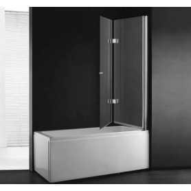 Шторка на ванну Cezares Verona 120 см, стекло прозрачное