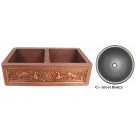 Мойка медная Bronze de Luxe 10304