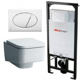 Инсталляция Alcaplast с унитазом Laufen Pro S 8.2096.1.000.000.1