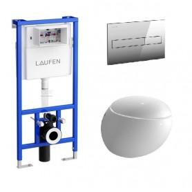 Инсталляция Laufen с унитазом Laufen Alessi One