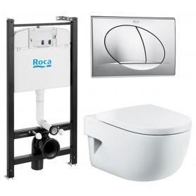 Инсталляция Roca Active с унитазом Roca Meridian Compact и крышкой с микролифтом