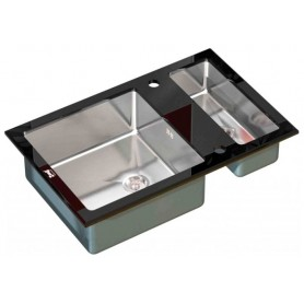 Мойка Zorg Inox Glass GL-8051-2-BLACK