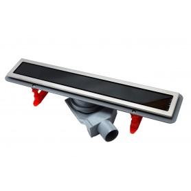 Душевой лоток Pestan Confluo Premium With Black Glass Line 650