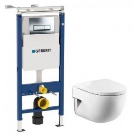 Инсталляция Geberit с унитазом Roca Meridian-N Compact 346248000