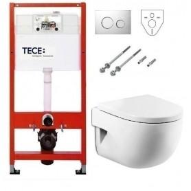 Инсталляция Tece с унитазом Roca Meridian-N Compact 346248000