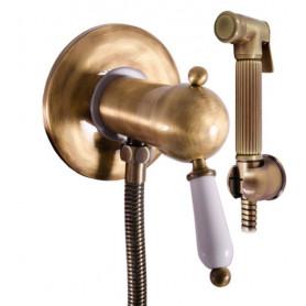Гигиенический душ со смесителем Rav Slezak ЛАБЭ L547SM цвет бронза