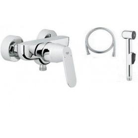 Гигиенический душ со смесителем Grohe Eurosmart Cosmopolitan (настенный монтаж)