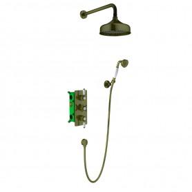 Душевая система скрытого монтажа Timo Nelson SX-1391/02SM  с термостатом цвет бронза
