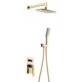Душевая система скрытого монтажа Boheme Venturo 384 цвет золото