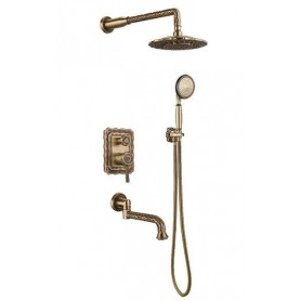 Душевая система скрытого монтажа Bronze de Luxe 10137DF цвет бронза