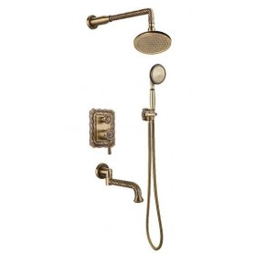 Душевая система скрытого монтажа Bronze de Luxe 10137R цвет бронза