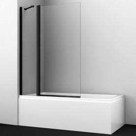 Шторка стеклянная Wasser kraft Berkel 48P02-110Black профиль