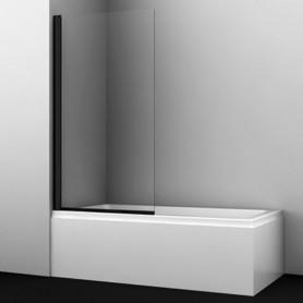 Шторка стеклянная Wasser kraft Berkel 48P01-80black профиль