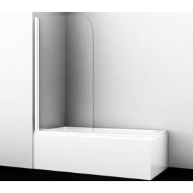 Шторка стеклянная Wasserkraft Leine 35P01-80WHITE профиль белый