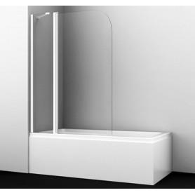 Шторка стеклянная Wasserkraft Leine 35P02-110WHITE Fixed профиль белый