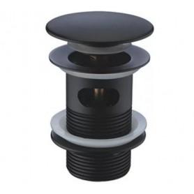 Донный клапан Wasserkraft A080 черный матовый