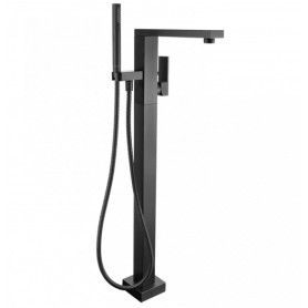 Смеситель для ванны напольный M&Z Lauren LRN06508 черный матовый