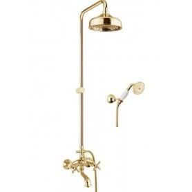 Душевая стойка с изливом Fiore Margot 26GO0615 цвет золото