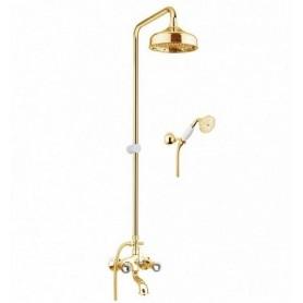 Душевая стойка с изливом Fiore Venere Sky 13OO0615 золото