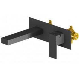 Смеситель для раковины из стены Timo Selene 2071/03SM черный