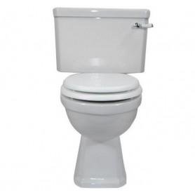 Унитаз напольный Magliezza Retro фурнитура хром, сиденье белое (в сборе)