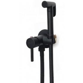 Гигиенический душ со смесителем Grohenberg GB001 чёрный матовый
