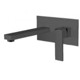 Смеситель для раковины (из стены) M&Z Lauren LRN04405 чёрный матовый