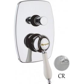 Смеситель для ванны и душа Margaroli RU1008AA01CR (хром) скрытого монтажа