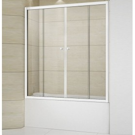 Шторка на ванну Cezares RELAX-VF-2-150/145-C-Bi стекло прозрачное