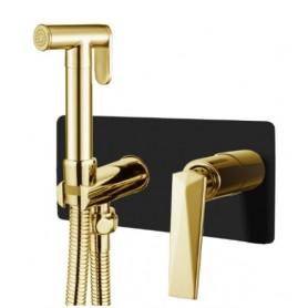 Гигиенический душ Boheme Venturo 387-B чёрный / золото