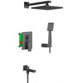 Душевая система скрытого монтажа Timo Selene SX-3069/03SM черный матовый