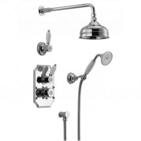 Душевая система скрытого монтажа Huber Victorian 913.VT02H.CR  с термостатом