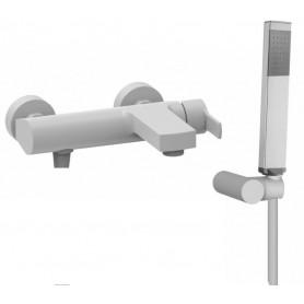 Смеситель для ванны Cezares Оvest-VDM-BIO белый матовый