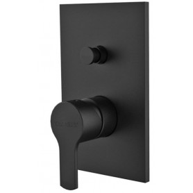 Смеситель для ванны и душа Cezares Ovest-VDIM-NOP чёрный матовый, скрытого монтажа