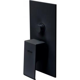Смеситель для ванны и душа Cezares Porta-VDIM-NOP чёрный матовый, скрытого монтажа