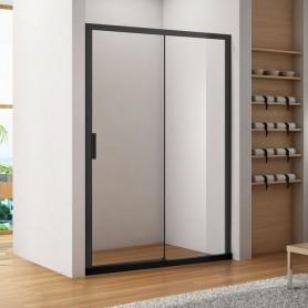 Душевая дверь раздвижная 140 см Aquanet Pleasure AE60-N-140H200U-BT профиль чёрный матовый