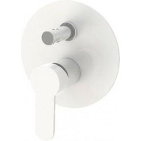 Смеситель для ванны и душа Cezares Laconico-C-VDI-BLC (белый) скрытого монтажа (2 режима)
