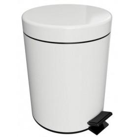 Ведро для мусора 5 л Bemeta Hotel 104315014 цвет белый