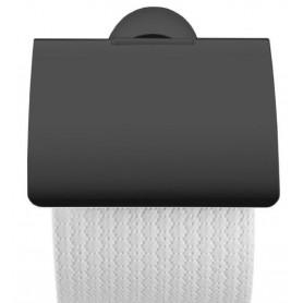 Держатель туалетной бумаги Duravit Starck 0099404600 с крышкой, чёрный матовый
