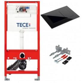 Инсталляция TECE 9300000 с клавишей Square 9240403 черный глянцевый
