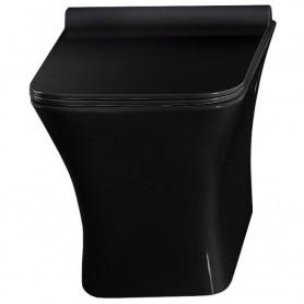 Унитаз подвесной CeramaLux TR 2024-18 чёрный глянец, с сидением микролифт