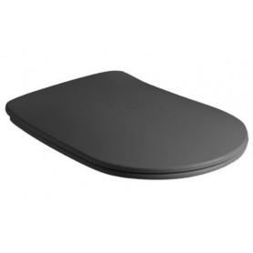 Сидение быстросъемное Kerasan Nolita 539131 чёрный матовый (микролифт)