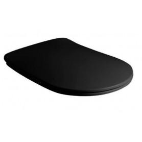 Сидение быстросъемное Kerasan Tribeca 519131 чёрный матовый (микролифт)