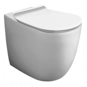 Унитаз приставной безободковый Simas Vignoni VI21bi цвет белый