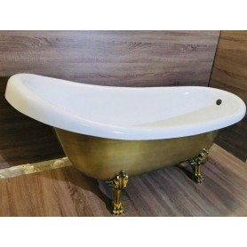 Ванна из искусственного камня Фэма Стиль Салерно 170х83 цвет бронза