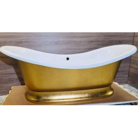 Ванна из литого мрамора Фэма Стиль Габриэлла 189х87 сусальное золото
